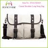 Good Quality Casual White Long Strap Canvas men's messenger bag