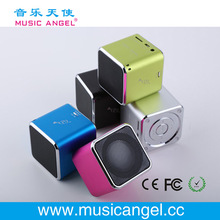 Music Angel JH-MD06 TF card cube bass peaker pa portable speaker new business ideas