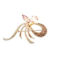 New Design Wholesale Charm Hair Wedding Crystal Brooch