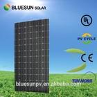 High effeciency 156 mono cell 300 watt monocrystalline solar panels