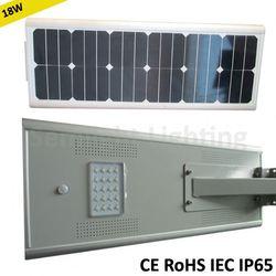 integral solar led street light system epistar chip polysilicon solar panel