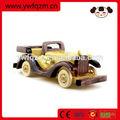 brinquedo de madeira de madeira modelo de madeira mini carro
