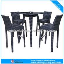A - Outdoor furniture pe rattan bar set table and stools CF934