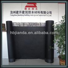 Hot asphalt roofing material for roof underlayment