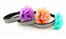 flower rhinestone pet collars,beautiful, hot sale