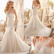 2014 Luxury Beaded Bridal Dress Low Cut Back -- AA393