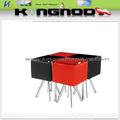 popüler siyah ve kırmızı cam taban boyalı yemek masası setleri