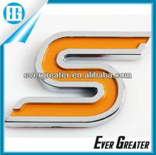 custom Auto DOME emblem chrome emblems 3m metal badge plastic emblems ABS Electroplated Sticker Auto Badge