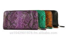 100% Handmade Genuine Exotic Leather Python Skin Women Designer Wallet Evening Purse Clutch