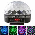 6CH DMX512 LED Colorida danza del disco de la bola anillo de luz luz de la fiesta de Navidad