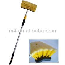 Long handle flow-thru car wash brush