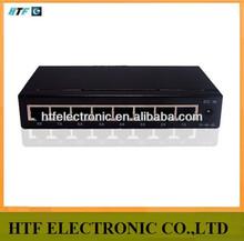 cutsomized 8p 10/100/1000M realtek chipset unmanaged full duplex ethernet network switch metal case