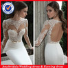 SA5011 Sexy mermaid keyhole back long sleeve lace wedding dresses 2014