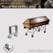 metal casket crosses coffin truck