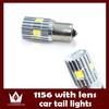 2 PCS 7W White S25 P21W 1156 7040+10 LED SMD Auto Brake LED Lighting Tail Backup Reserve Light