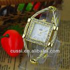 Made in China Smart Girl Steel Wire Wristwatch Cheap Fashion Bangle Watch