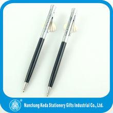 2014 new style best seller smoothy writing hotel slim metal twist ballpoint pen