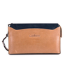 Newly Design Long Wrist Brown Color Phone Slot Microfiber Men Clutches and Purses