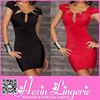 Wholesale black hollow out ladies one piece dress