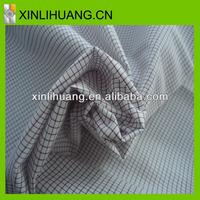 Cotton yarn dyed shirt grey fabric woven fabric yarn dyed fabric for sale