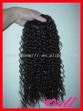 pretty human hair brazilian tight curl remy hair weave