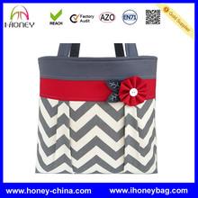 2014 Hot Selling Zig Zag Print Mummy Diaper Bag Chevron Purse Handbag