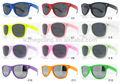2014 de promoción de neón plástico gafas de sol wayfarer