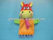 2014 customize toys Plush Hippo Hand Puppet children's toys plush animal toys