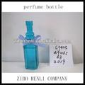 artigos de presente atraente e moderno azul vazio de vidro quadrado frascodeperfume decoração