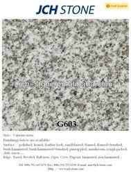 China stone G603 cheap grey granite polished/flamed/brushed/bushhammered flooring tiles 60x60