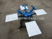 Economical hand 4 color/4 station t-shirt silk screen printer KR440M