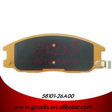 Para SANTAFE mejores pastillas de freno de la marca de HYUNDAI coches OEM : 58101-26A00