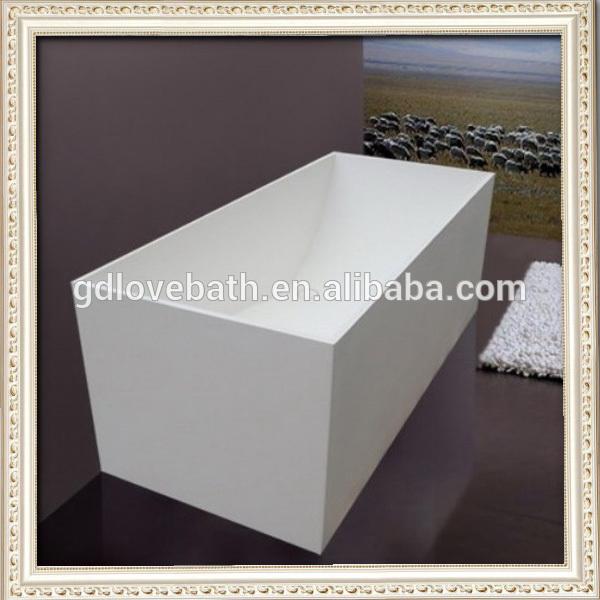 Witte kleur nieuwe ontwerp chinees vergelijkbaar als natuursteen badkuip gegoten stenen bad met - Badkuip ontwerp ...