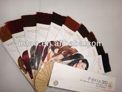 Hair color chart, professional color catalog