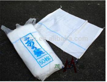 Hot Selling To Japan pe sand garbage cotton linen drawstring bag