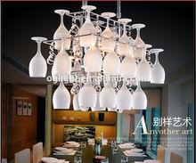 crystal glass designer pendant light, guzhen lighting factory