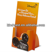 Paper countertop display flyer holder for advertising