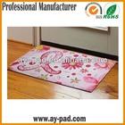 Sublimation Printing Rubber Floor Carpet , Fabric Waterproof Door Mat