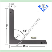 hot dipped galvanized carbon steel standard angle iron sizes