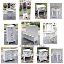 wooden european style wash white bedroom furniture nightstand/bedside table/vanity set/dresser