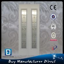 Fangda modern white double leaf steel door