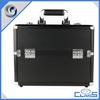 MLD-CC565 Luxurious Aluminum Black Plastic Jewelry Travel Box Display Watch Case With Key Lock