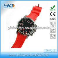 2014 Nice big face fashion playboy quartz rubber watch