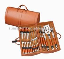 New design 20 pcs bbq tools in PU case