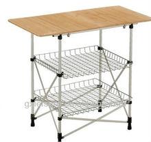 GXT-058 kichen Aluminum bamboo folding table