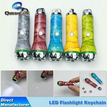 Custom metal crafts LED key chain aluminum alloy soft hard canvas Mini Flashlight Keychain
