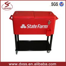 Garden cooler cart metal cold drink storage container (C-006)