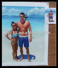 Портрет маслом цветопередача с фото ( муж и жена )