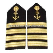 Mate Shoulder Boards - Anchor & Bars | Hard Shoulder Boards - Gold Stripes / Anchor | Shoulder Boards Epaulets Merchant Marine