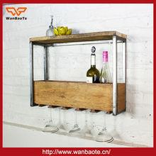 China Practical New Designwooden hanging wine glass rack